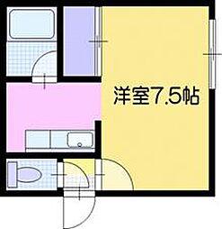 コーポ尾田[2階]の間取り