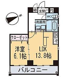 新築クリサンテーム[301号室]の間取り