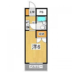 OTOWAマンション[1階]の間取り