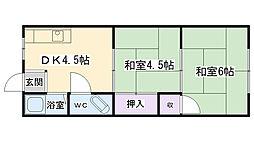鶴見マンションヨシモト[403号室]の間取り