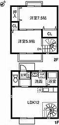 [テラスハウス] 愛知県豊川市大橋町三丁目 の賃貸【/】の間取り