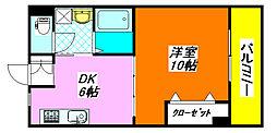 パレス・高井田 205号室[2階]の間取り