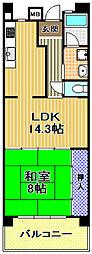 酉島リバーサイドヒルなぎさ街16号棟[2階]の間取り