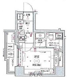 リヴシティ横濱関内 5階1Kの間取り