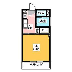 ピュアハウス[1階]の間取り