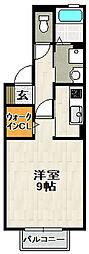 シャルマン松香園[1階]の間取り
