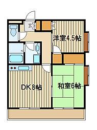 東京都練馬区東大泉5の賃貸マンションの間取り