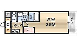 アーバンフラッツ新大阪2[2階]の間取り