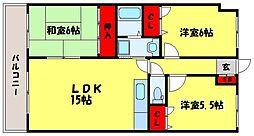 藤九ミネラルマンション[4階]の間取り