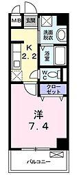 横浜市営地下鉄ブルーライン 仲町台駅 徒歩13分の賃貸マンション 1階1Kの間取り