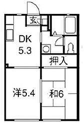 メイプルハウス[A103号室]の間取り
