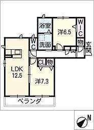 フェリシティII[3階]の間取り