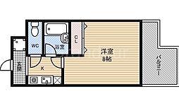 大阪府大阪市鶴見区今津中5の賃貸マンションの間取り
