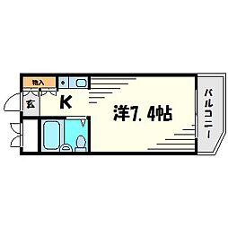 キューブ北武庫之荘II[4階]の間取り