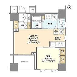 東京メトロ半蔵門線 大手町駅 徒歩6分の賃貸マンション 4階1LDKの間取り