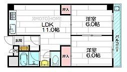 江坂グランドハイツ北[9階]の間取り