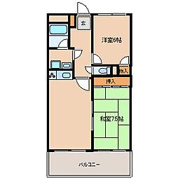 ソシア武庫川[1階]の間取り