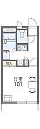 JR青梅線 西立川駅 徒歩11分の賃貸アパート 2階1Kの間取り