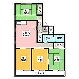 岡田真英ハイツ[1階]の間取り