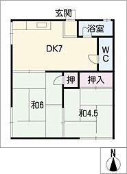 コーポ橋本[2階]の間取り