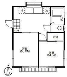 大久保邸アパート[1F号室]の間取り