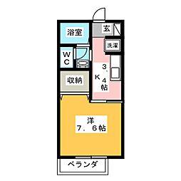 静岡県富士市錦町1丁目の賃貸アパートの間取り