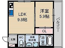 エルメゾンJR総持寺[1階]の間取り
