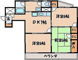 広島県広島市東区愛宕町の賃貸マンションの間取り