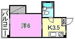 メゾン湯渡[402 号室号室]の間取り