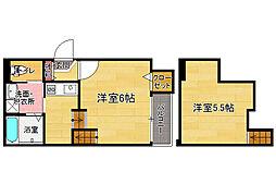 ステージ笹原[1階]の間取り