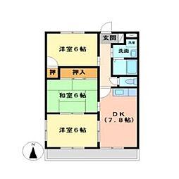 エスポワール80弐番館[2階]の間取り