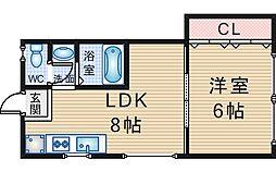 本町マンション[301号室]の間取り