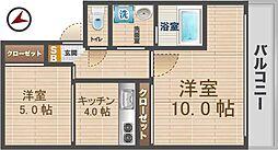 東京都中野区中央1丁目の賃貸マンションの間取り