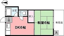 協和荘[102号室]の間取り