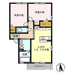 ルミエール鳴門 B棟[2階]の間取り