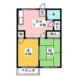 コーポ小林[1階]の間取り