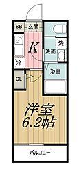 千葉県千葉市中央区春日1丁目の賃貸アパートの間取り