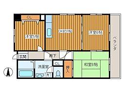 第一市川マンション[702号室]の間取り