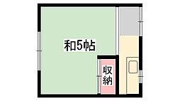 東嶋アパート[5号室]の間取り