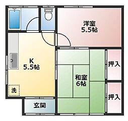 [一戸建] 千葉県船橋市海神4丁目 の賃貸【/】の間取り