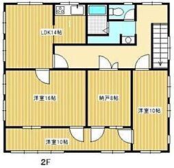 浜北根堅貸住居付事務所 2階部分[2階]の間取り