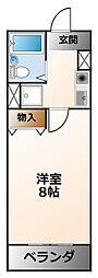 マリントピア甲子園[2階]の間取り