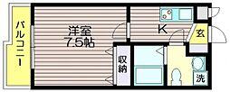 エフデビュー[2階]の間取り