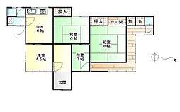 [一戸建] 愛媛県新居浜市吉岡町 の賃貸【/】の間取り