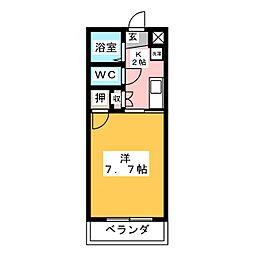 早川ヴィラII[1階]の間取り
