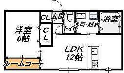 [タウンハウス] 大阪府大阪市生野区中川4丁目 の賃貸【/】の間取り