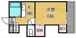 大阪府枚方市長尾元町5の賃貸マンションの間取り