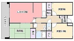 フェアール習志野[2階]の間取り