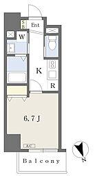 MISTRAL姫路駅前IV 4階1Kの間取り