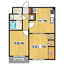 セントアミュー[3階]の間取り